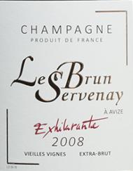 Etikette Champagne Lebrun Servenay - Exhilarante 2008_web