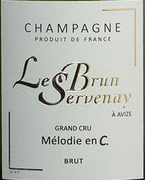 Etikette Champagne Lebrun Servenay - Mélodie en C_web