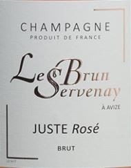 Etikette Champagne Lebrun Servenay - Rosé_web